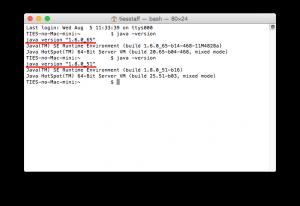 """JDK8をインストールすると、バージョン表記が""""1.8.0_xx""""になりました"""