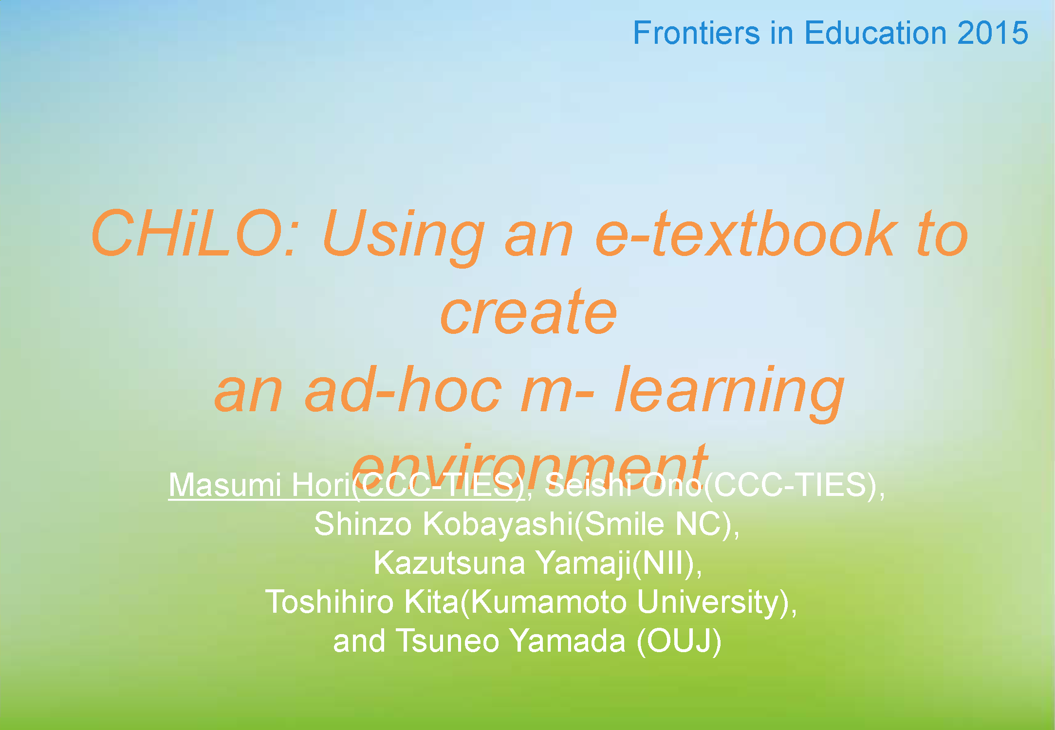 chilo using an e textbook to create an ad hoc m learning